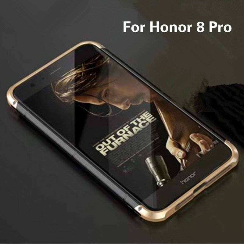 Luxury Original Brand BOBYT Aluminum Metal Frame + PC Hard Armor Anti-knock Back Cover Cases For Huawei Honor 8 Pro Case 5.7