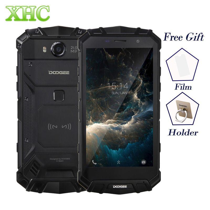 IP68 DOOGEE S60 Sans Fil Charge 5580 mAh Mobile Téléphone Helio P25 Octa Core 1920*1080 FHD Smartphone 21MP Caméra 6 GB + 64 GB Téléphone Portable