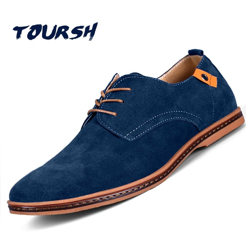 TOURSH Shoes Men Casual Leather Shoes Krasovki Men Shoes Casual 2017 In Men'S Casual Shoes Zapatillas Hombre Casual Big Size 11
