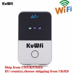 Kuwfi Router WiFi 4G Mini LTE Router Nirkabel Dibuka 3G/4G FDD/TDD Saku Portabel wi Fi Router dengan Slot Kartu SIM
