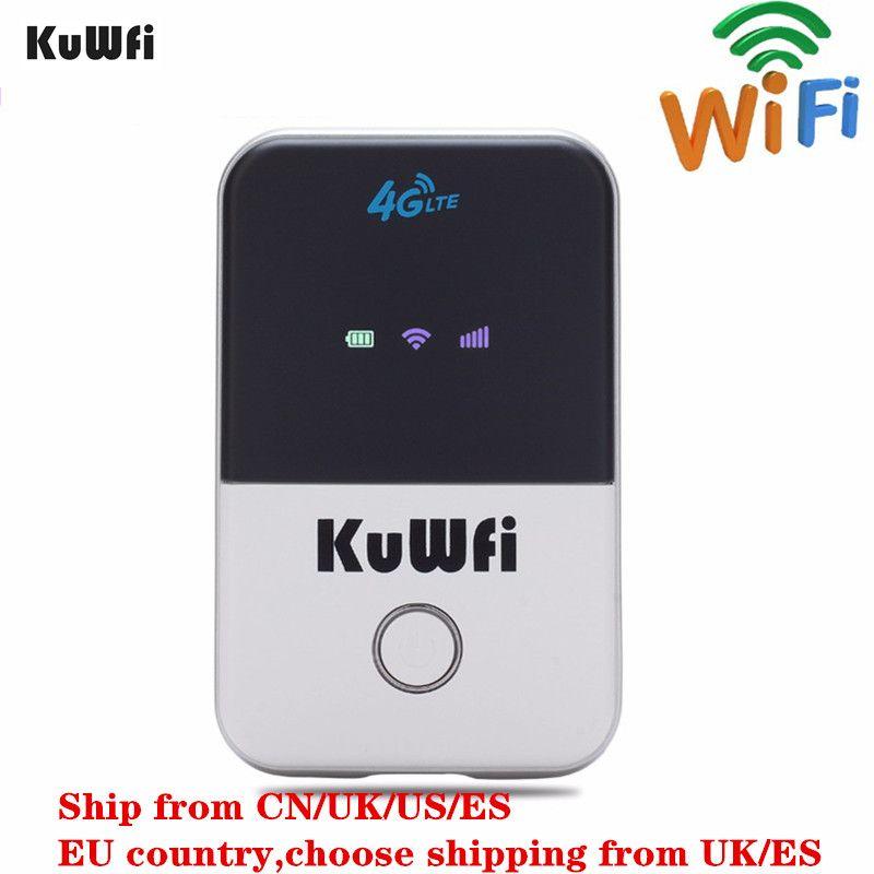 Routeur Wifi KuWFi 4G Mini routeur sans fil LTE débloqué 3G/4G FDD/TDD routeur wi-fi de poche Portable avec emplacement pour carte Sim