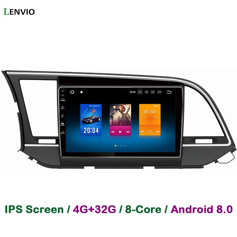 Lenvio 4G RAM 32G ROM Octa Core Android 8.0 CAR DVD GPS Navigation Player For Hyundai Elantra 2016 Radio mirror link WIFI BT IPS