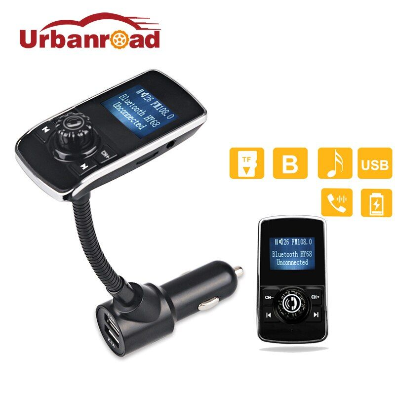 Urbanroad Mp3 Player Wireless Fm Transmitter Modulator Aux USB Car Charger Handsfree Bluetooth Fm Radio Transmitter Car Kit