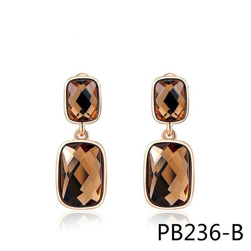 Импортные товары хорошо продаются ювелирные изделия серьги оранжевый двойной прямоугольник серьга PB236
