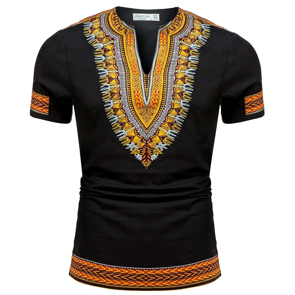 2017 verano otoño hombres ropa Africana dashiki ropa costura de punto batik impresión manga corta tops hombre Camiseta