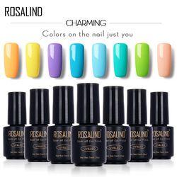 ROSALIND Black Bottle 7ML Gel Lacquer Pure Color 58 Colors 31-58 UV LED Gel Nail Polish Warming DIY Nail Art gel nail polish