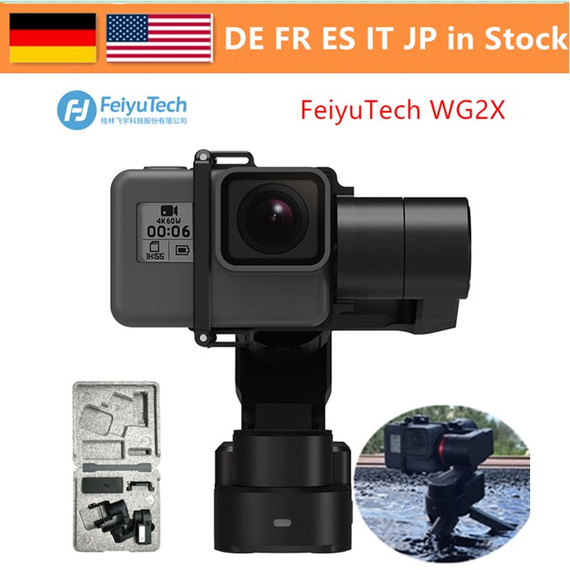 FeiyuTech WG2X 3-Axis Waterproof Wearable Gimbal Portable Hands-Free Filming Video with 360 Degree Panoramic For Gopro 4/5 6 7