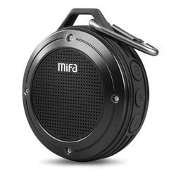 MIFA F10 Outdoor Nirkabel Bluetooth 4.0 Stereo Portable Speaker Built-In MIC Shock Resistance IPX6 Tahan Air Speaker dengan Bass