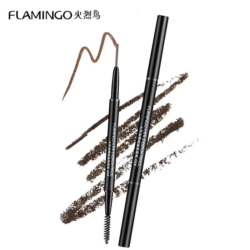 Livraison gratuite rehausseurs de sourcils marque Flamingo 1.5mm fine recharge étanche non floraison avec brosse tête crayon à sourcils B1001