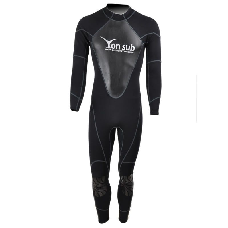 1.5mm Neoprene Scuba Man Diving WetSuit Surf And Spearfishing Suit Professional Snorkeling Black Suit YW8002 Free Shpping