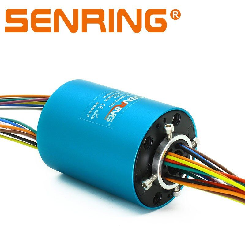 Rotating connector Armature 6 circuits 10A and 12 signal 2A through hole slip ring with 12.7mm