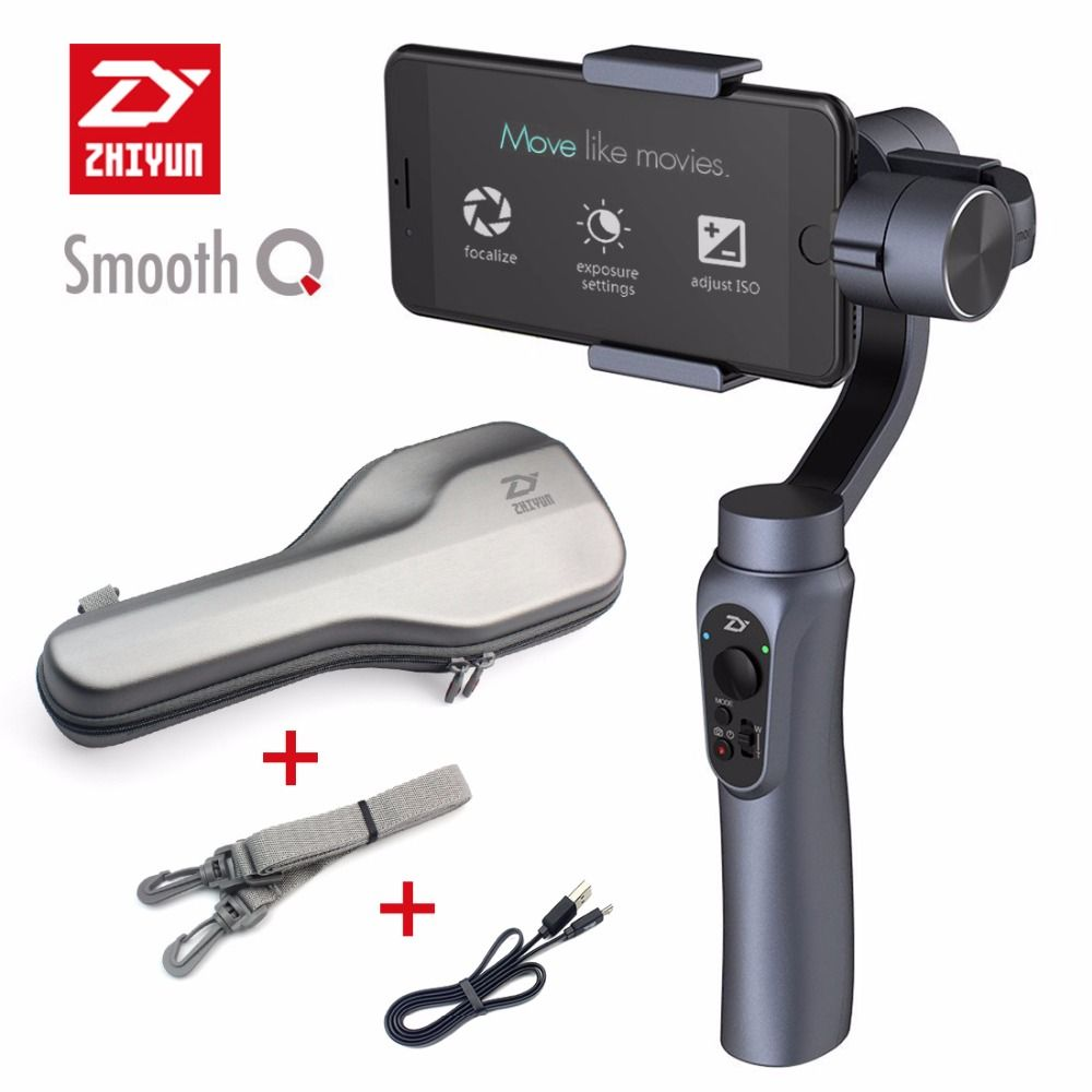 Zhiyun SMOOTH-Q Smooth Q Handheld 3-Axle Gimbal Portable Stabilizer for Smartphone iPhone 7 Plus 6 S7 Vertical Shooting Selfie