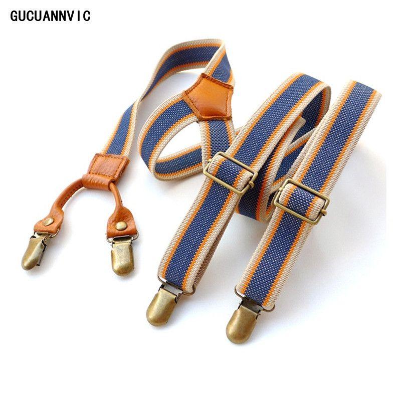 Vintage hommes bretelles nouveau 4 Clip bretelles homme pour pantalon décontracté hommes pantalon bretelles mode réglable femmes bretelles