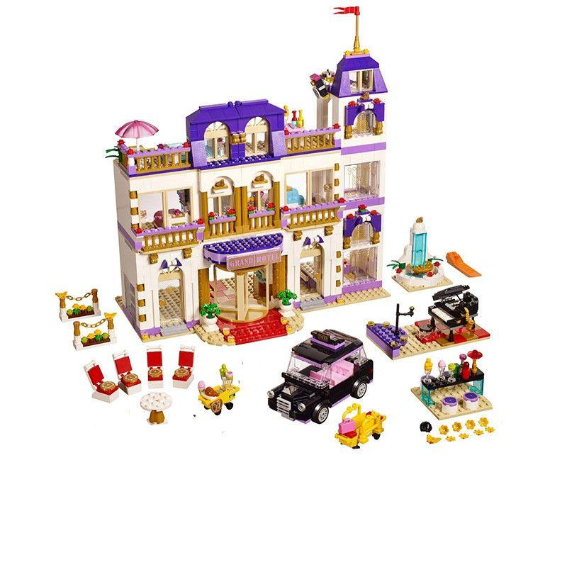 10547 1676Pcs Girls Series Heartlake Grand Hotel Model set Building Blocks Bricks Eucational toys for girl Gift Compatible 41101