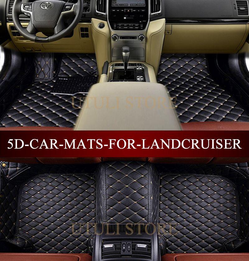 Car floor mats for Toyota Land Cruiser 200/Prado LC120 LC150 FJ120 FJ150 2005-2017 3D custom fit car carpets foot mats