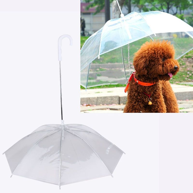 Kunststoff Hund Regenschirm Regenmantel für Hund Pet Regenschirm Regenmäntel Getriebe mit Hund Führt Hält Haustier Trocken Bequem in Regen Schneit