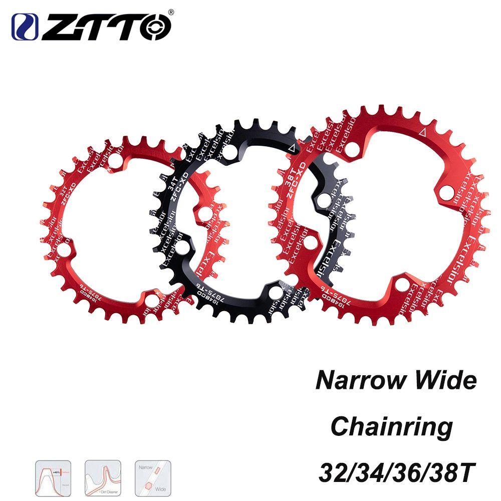 ZTTO unique vitesse 1x système étroit large plateau 104 BCD rond 32T 34T 36T 38Tfor vtt 11s 10s 9s 1*11 pédalier anneau de roue