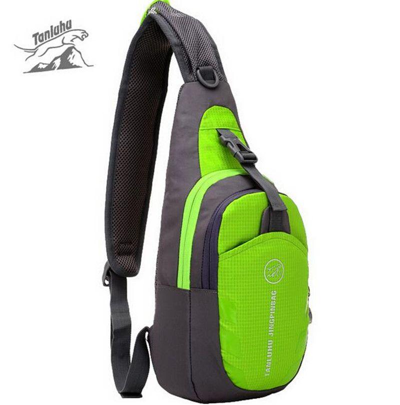 TANLUHU Men Women Nylon Sling Chest Back Travel Climb Cross Body Messenger Shoulder Pack Chest Bags Couple Bags