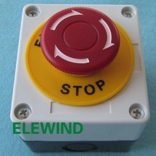 Interrupteur d'arrêt d'urgence ELEWIND avec boîtier de commutation (PB222-11TSA/R/P/T14/2260 avec boîtier de commutation)