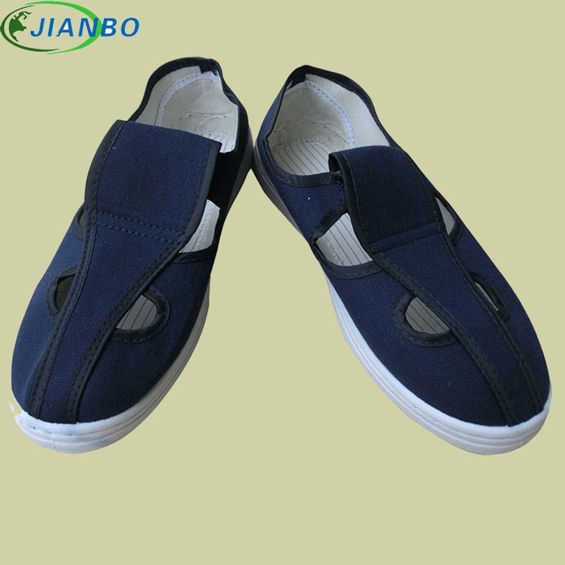 Manufacturers Provide Antistatic Canvas Four Eye Shoes, Dust-Free Workshop PVC Bottom Work Breathable Antistatic Shoes