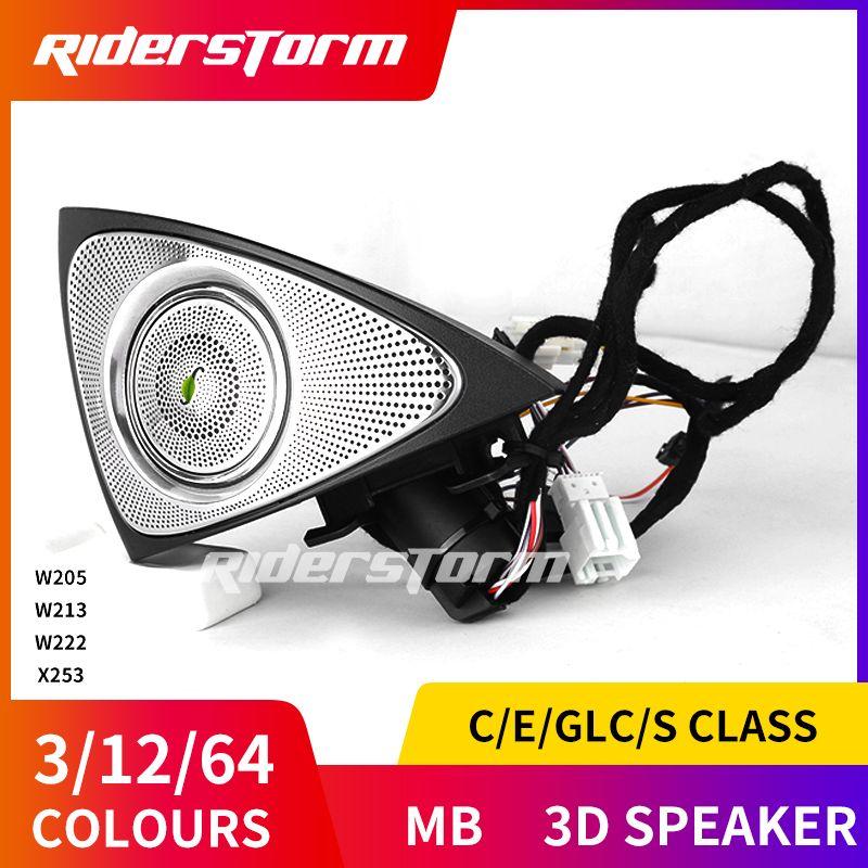 Für C E S GLC klasse w205 w213 X253 3D Burmester sound Audio Lautsprecher Burmester High End 3D roating audio 2016 + 3D rotary hochtöner