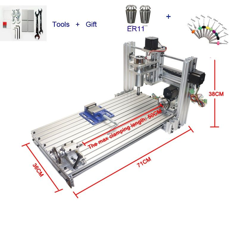 CNC 3060 in Wood Routers Mini DIY 6030 Milling Drilling Machine USB Port Mach3 Wood Aluminum Carving Machine With 400W Spinde