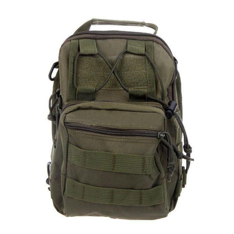 Top Sale Military  Shoulder Backpack Soft Rucksack Trekking Bag Black/Army green
