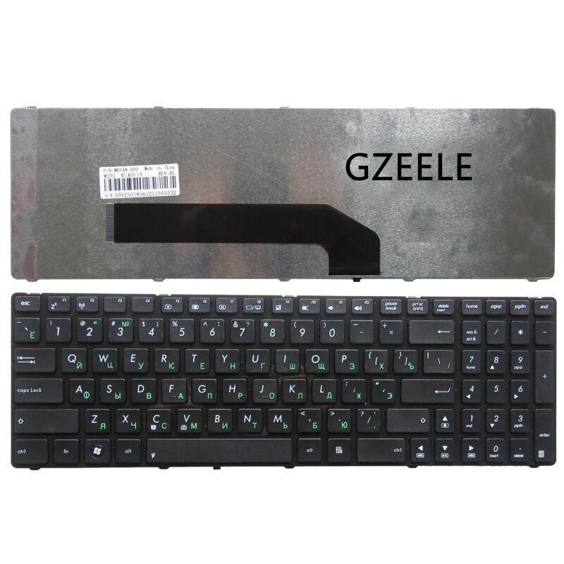 GZEELE NEUE laptop-tastatur FÜR ASUS 0KN0-EL1RU01 V090562BS1 0KN0-EL1RU01 04GNV91KRU00-1 X5A X5EAC X5EAE mit rahmen RU layout