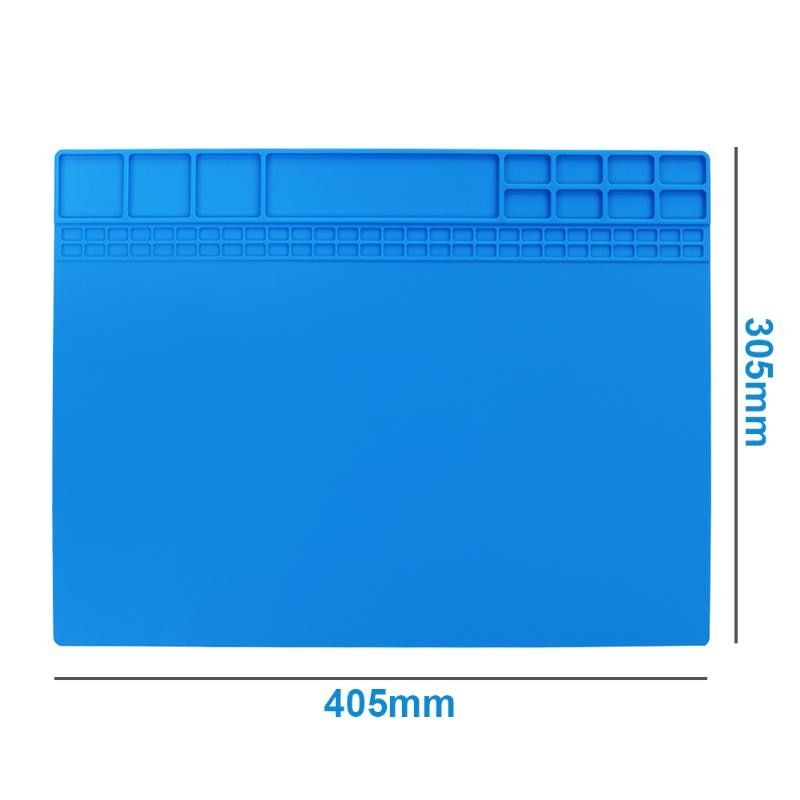 40X30CM Heat Insulation Silicone Pad Desk Mat Maintenance Platform For BGA Soldering Repair Station With Magnetic Section