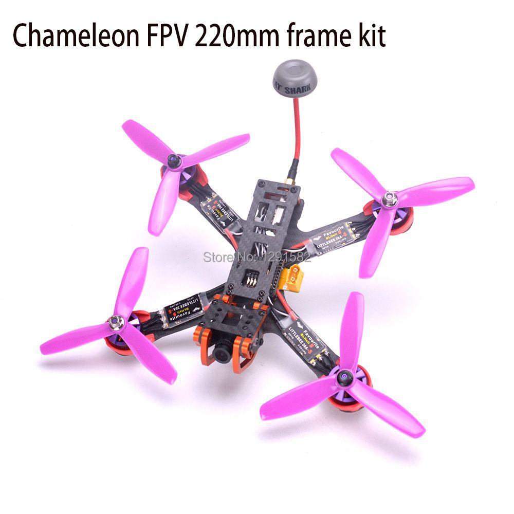 Chameleon FPV Rahmen 220 220mm Quadcopter F3/Naze32 controller 2205 2300kv Littlebee 30A BLHeli-s ESC Für RC FPV Drone PUDA
