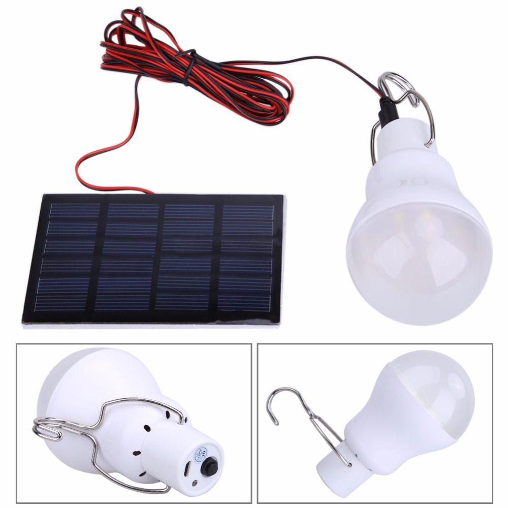 Portable 130LM Solaire Puissance Extérieure LED Ampoule Lumière Étanche LED Panneau Solaire Patio Lumière Lanterne de Camping En Plein Air Camp Lampe
