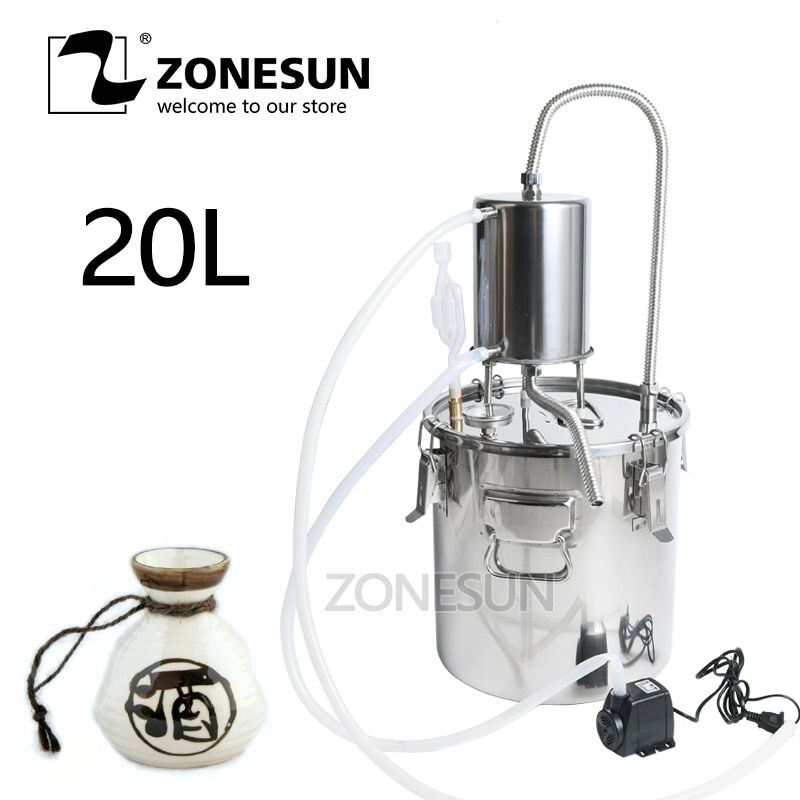 Wine Beer Alcohol Water Distiller Moonshine Mini Home Rose Water Essential Oil Alkol DIY Brewing Kit Stainless Brewery Equipment