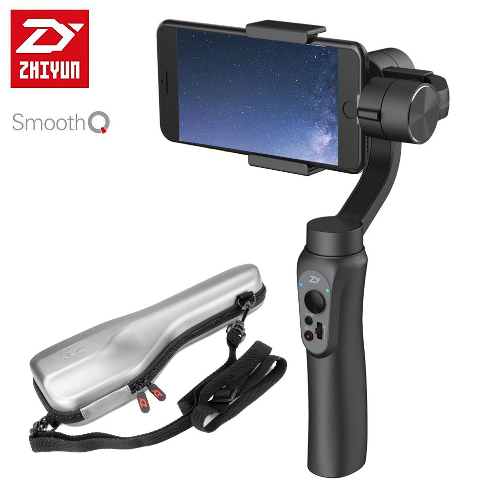 Zhiyun SMOOTH-Q Smooth Q Handheld 3-Axis Gimbal <font><b>Portable</b></font> Stabilizer Smartphone for iPhone X 8 7 6 Plus S8 S7 6 Vertical Shooting