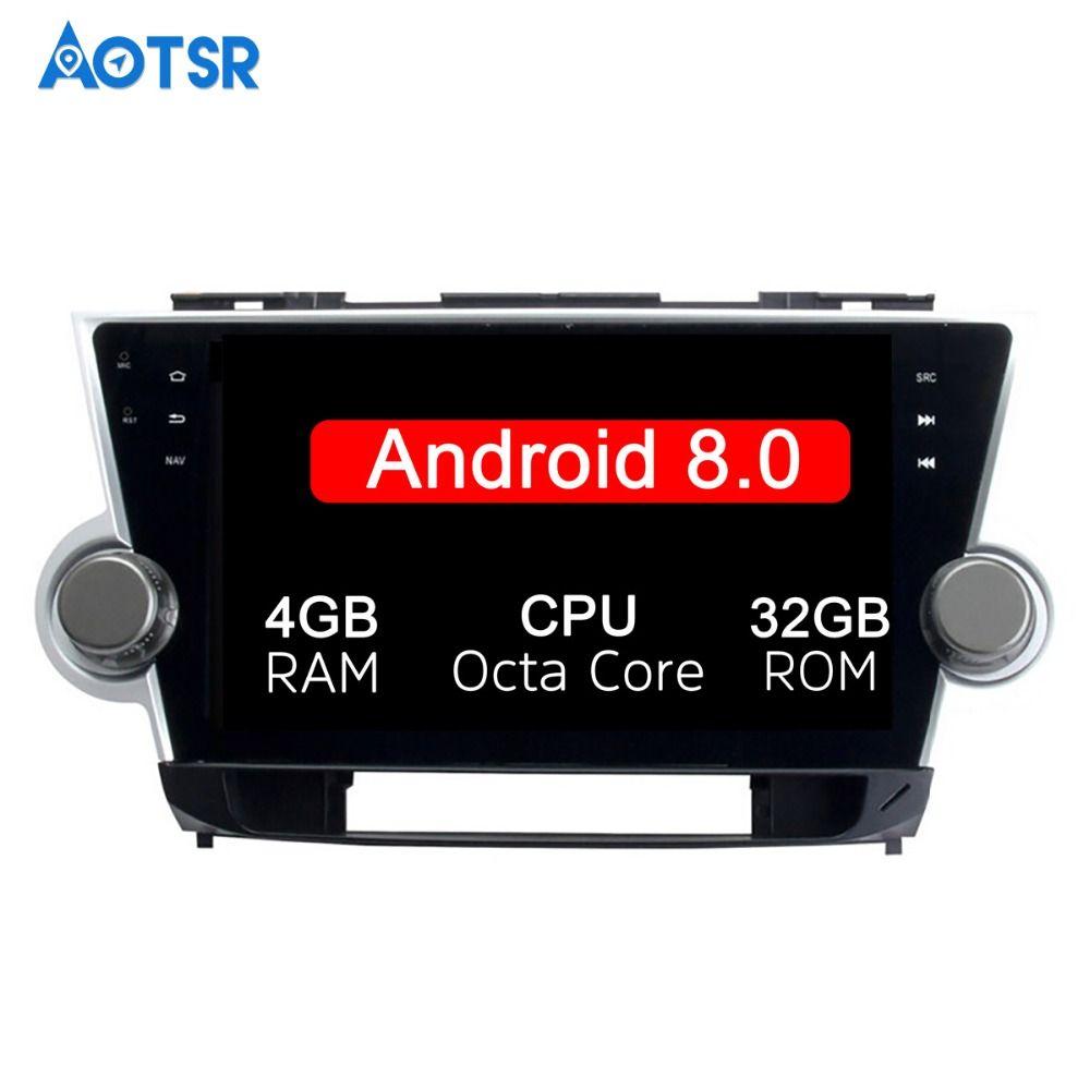 10,1 zoll 2 Din Neueste Android 8.0 Octa Core Auto Radio Player Stereo GPS Navi Für Toyota HIGHLANDER 2008-2014 HD 1024*600 Wifi