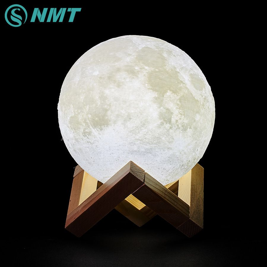 3D Impression LED Lune Lumière Interrupteur Tactile LED lampe DE Chambre À Coucher Lampe De Nuit Nouveauté Lumière pour Bébé Enfants enfants Noël Décoration De La Maison