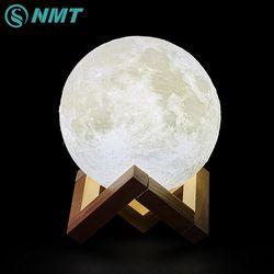 3D Impression LED Lune Lumière Tactile Interrupteur LED Chambre Lampe de Nuit Nouveauté Lumière pour Bébé Enfants Enfants De Noël Décoration de La Maison