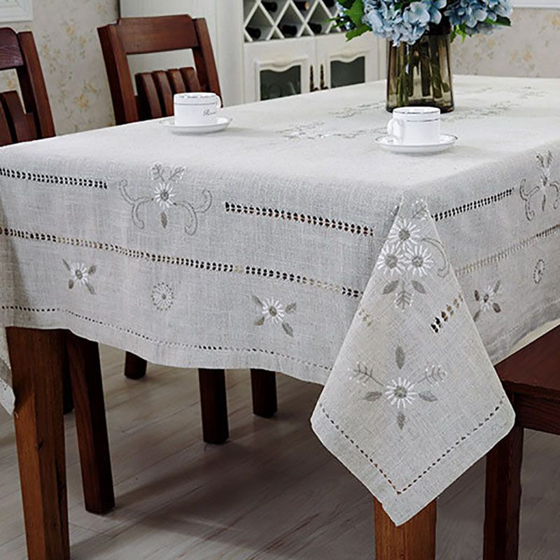 Linen <font><b>Table</b></font> Cloth Woven Printed Pastoral Embroidery Handmade Christmas Tablecloth Mantele Para Mesa Nappe Bugaboo Toalha De Mesa