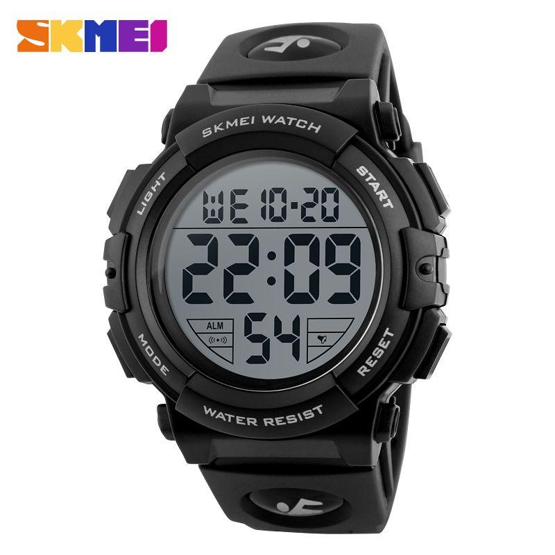 SKMEI New Sports Watches Men Outdoor Fashion Digital Watch Multifunction 50M <font><b>Waterproof</b></font> Wristwatches Man Relogio Masculino 1258