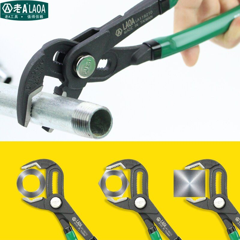 LAOA 10 Inch multifunction Water Pump Pliers Pipe Wrench Plumbing <font><b>combination</b></font> pliers Grip pipe wrench Plumber Hand Tools