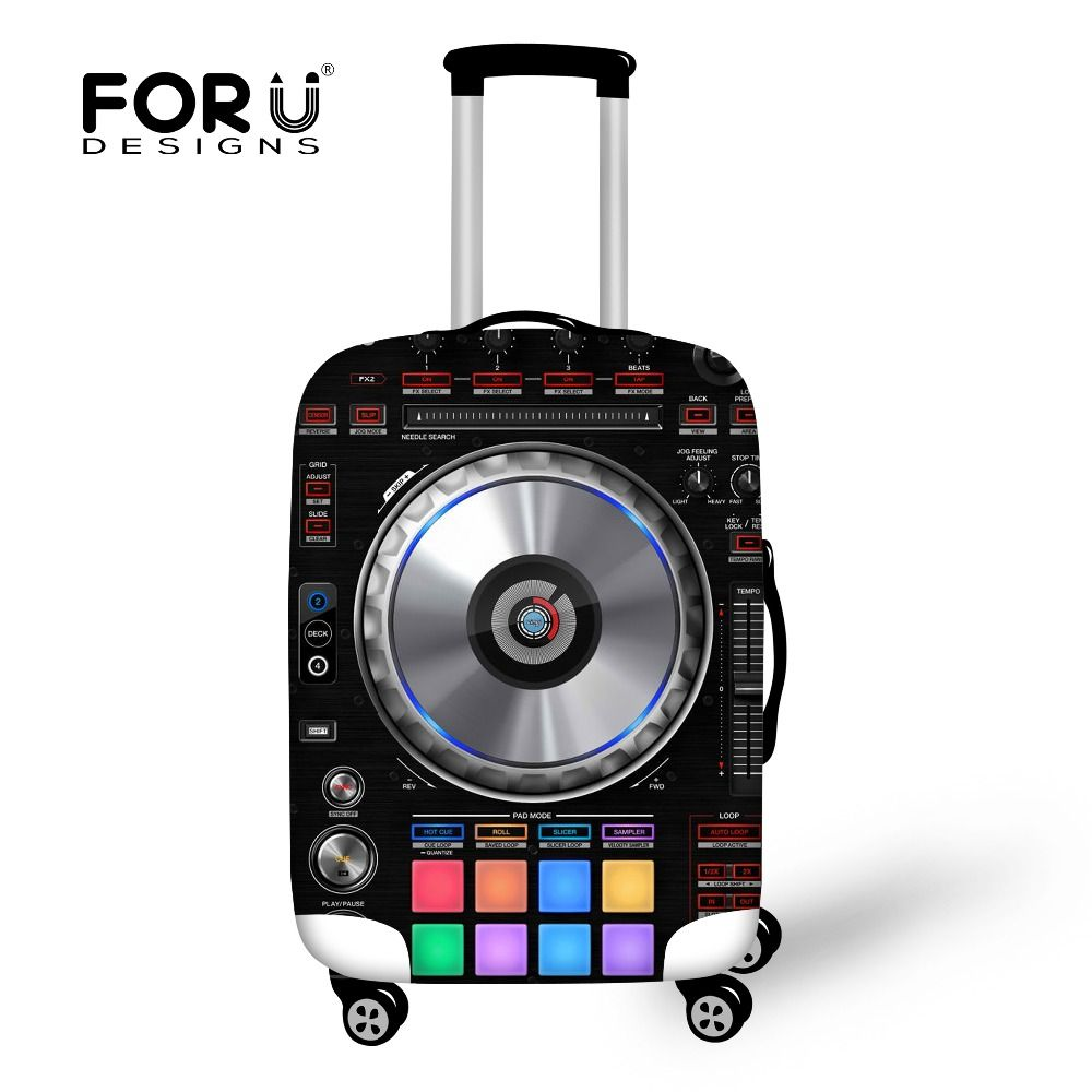 FORUDESIGNS Luggage Protective Cover For 18 to 30 inch Trolley Suitcase Elastic Bags 3D loundspeaker Covers Travel Accessories