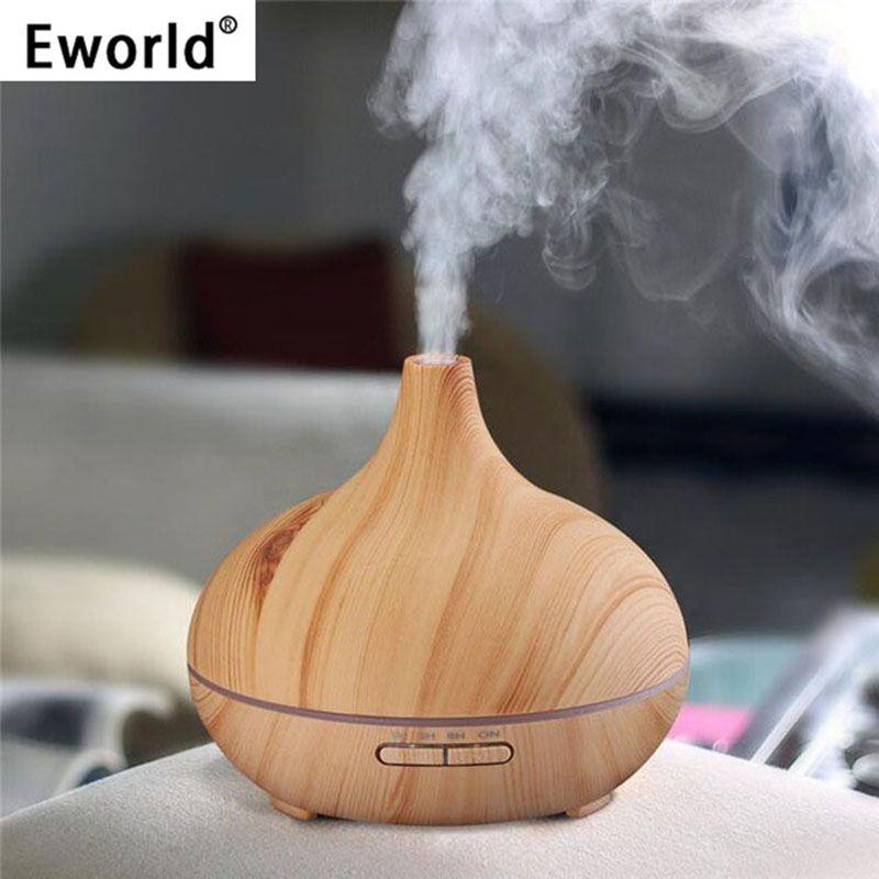 Eworld 300 ml humidificateur d'air diffuseur d'huile essentielle arôme lampe aromathérapie électrique arôme diffuseur brumisateur pour un usage domestique