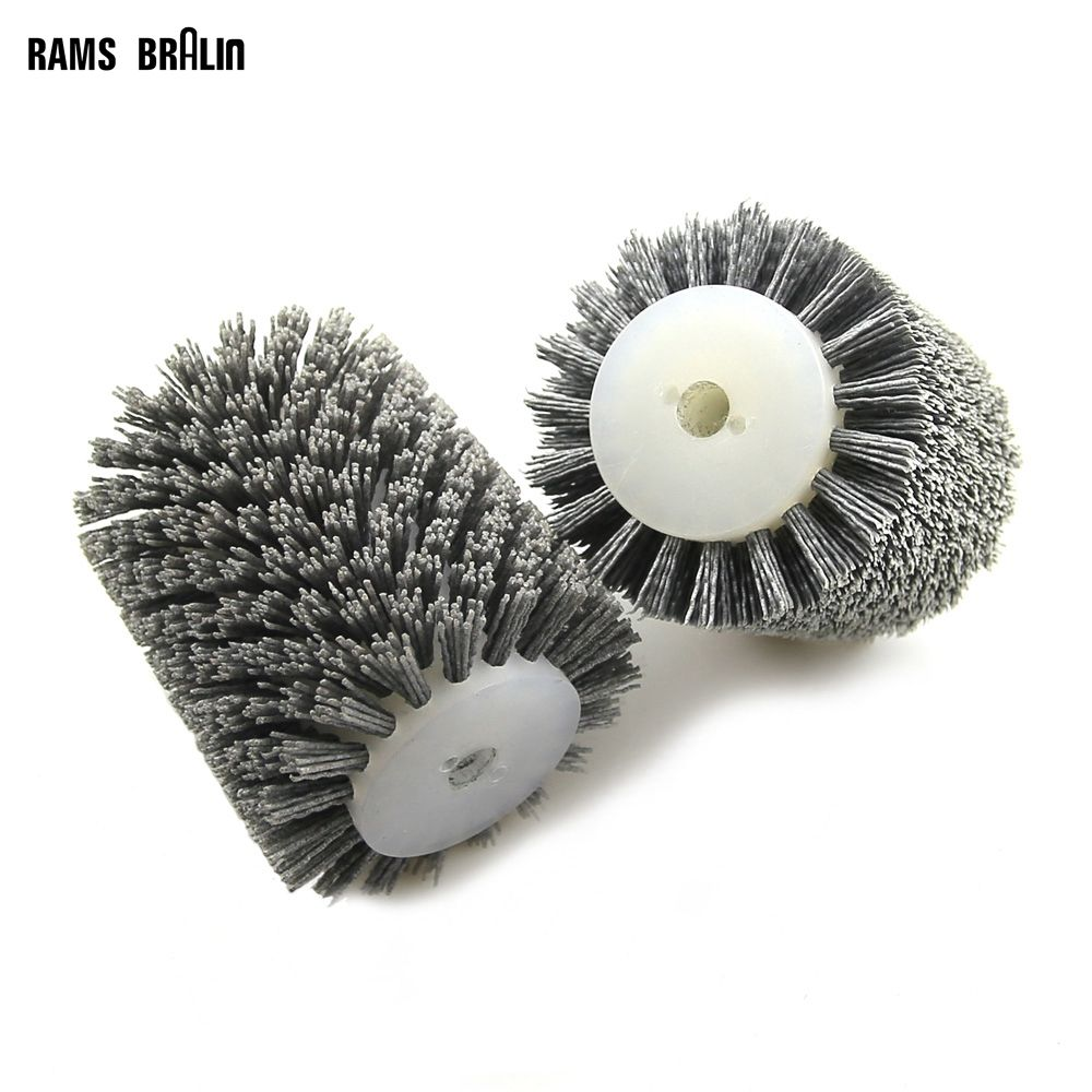 1 pcs 100*120*13mm Abrasives Wire Brush Wheel for 9741 Wheel Sander P80-P600 Wooden Furniture Polishing Grinding Tool