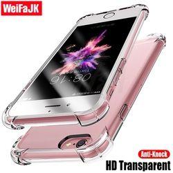 WeiFaJK Anti-frapper Transparent Cas Pour l'iphone 6 6 s 7 8 Plus X Silicone Téléphone Pleine Couverture Pour iPhone X 8 7 Plus le Cas Capa Coque