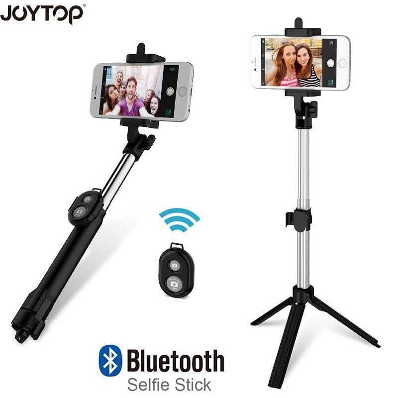 JOYTOP Mode Pliable Selfie Bâton Bluetooth Selfie Bâton + Trépied + Bluetooth Obturateur À Distance Contrôleur pour Mobile Téléphone Bâton