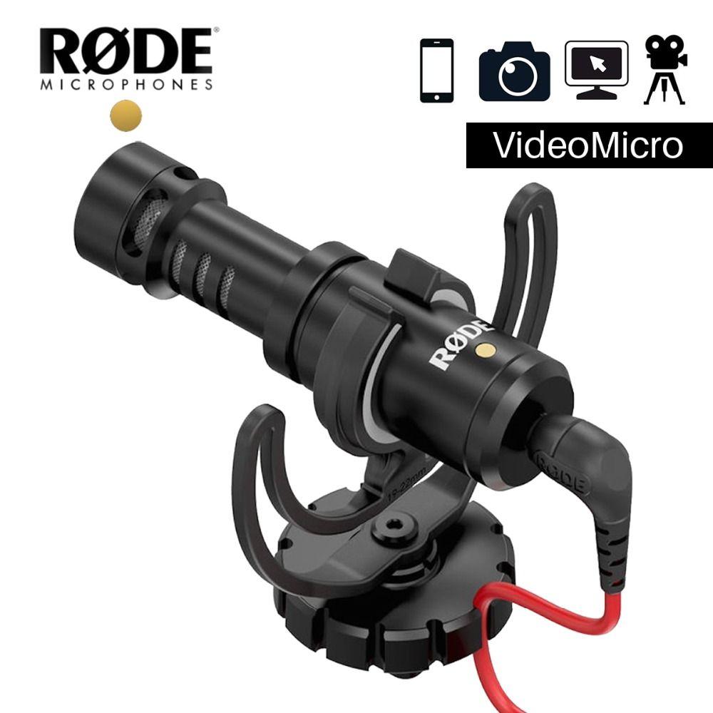 Rode VideoMicro Recording Microphone Interview Microfone with Deadcat for Canon Nikon DSLR Camera for iPhone <font><b>Zhiyun</b></font> Dji Feiyu