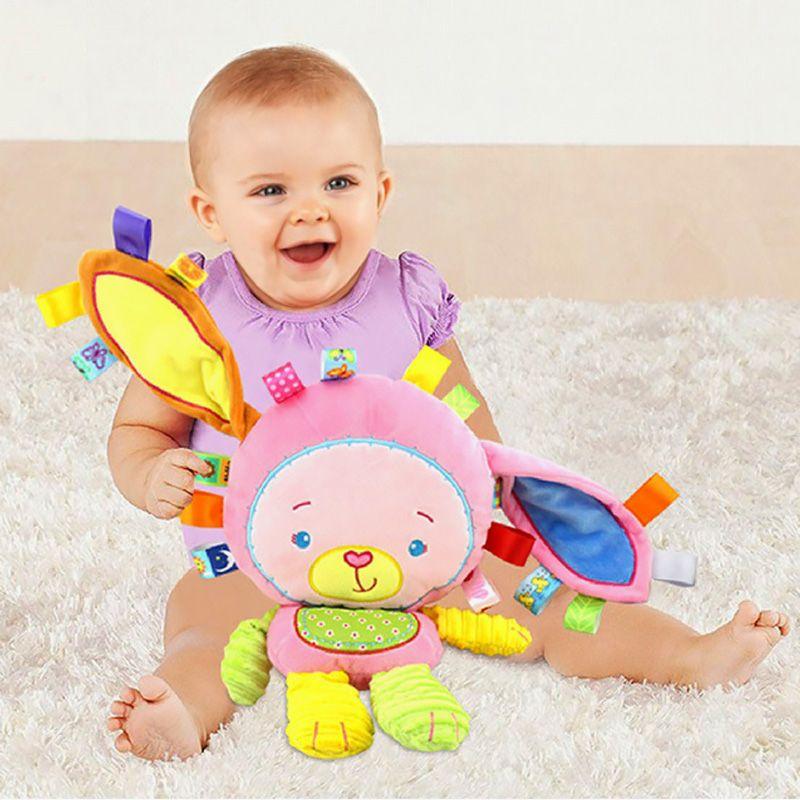 5 Styles bébé enfant en bas âge hochets jouets apaiser poupée en peluche animaux clochettes nouveau-né garçons filles jouet éléphant/singe/lapin doux cadeaux