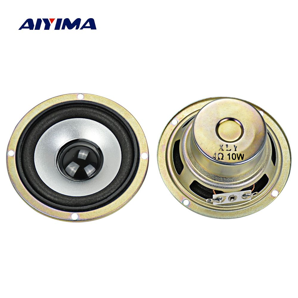 Aiyima 2Pcs 3Inch 4 Ohm 10W Full-Range Tweeter Speakers Loudspeaker DIY HIFI Loudspeaker Car Stereo Home Theater