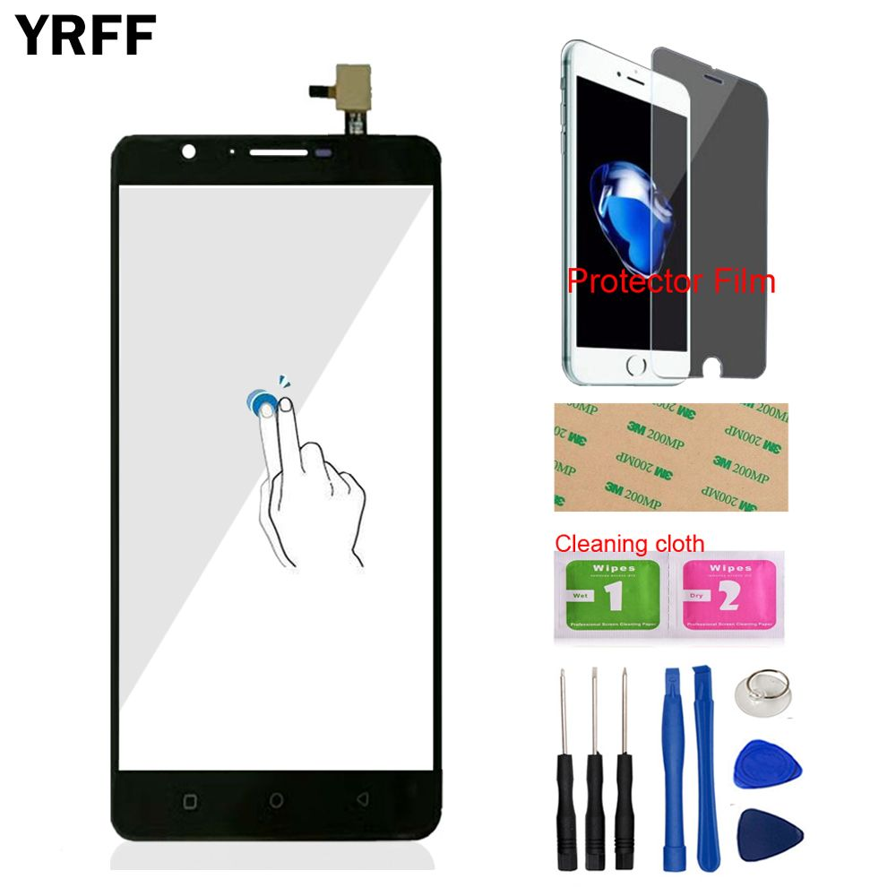 YRFF TouchGlass Front For Oukitel U16 Max Touch Screen Digitizer Panel Glass Replacement Tools Free Protecotr Film With Adhesive