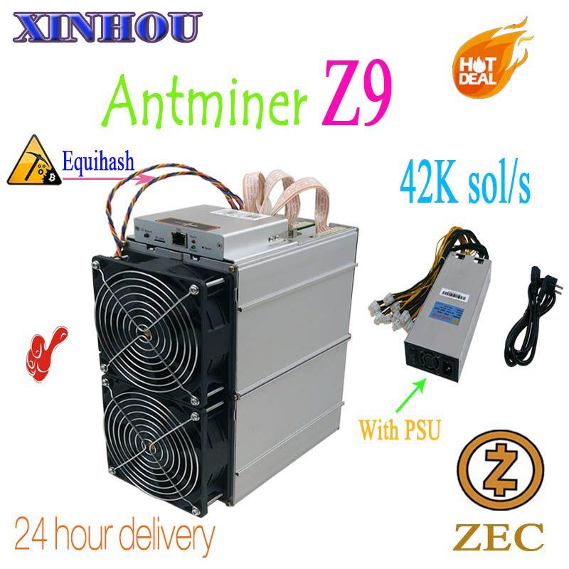 Verwendet Bitmain Antminer Z9 42 k sol/s Equihash ASIC miner bergbau ZEC Besser als Innosilicon A9 antminer z9mini s11 Z11 S15 M3X T17