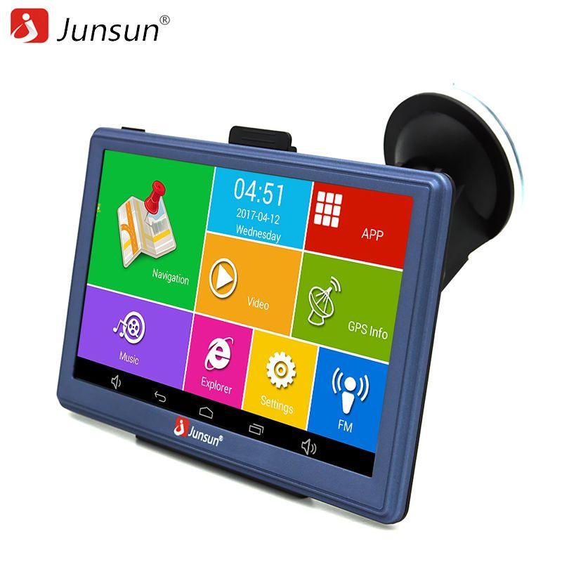 Junsun 7 pouce Voiture GPS Navigation Android Bluetooth WIFI Russie/Europe carte Camion Véhicule GPS Navigator sat nav livraison carte